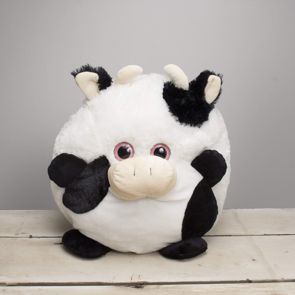 "Plushible ""Dairy"" the 20in Roly Poly Animal Cow"""