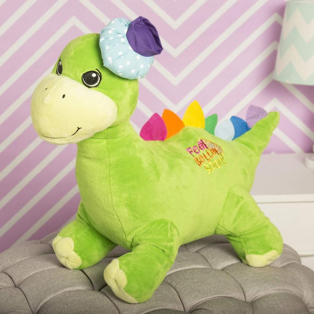 "Plushible ""Digby"" the 18in Feel Better Soon Green Plush Dinosaur"""