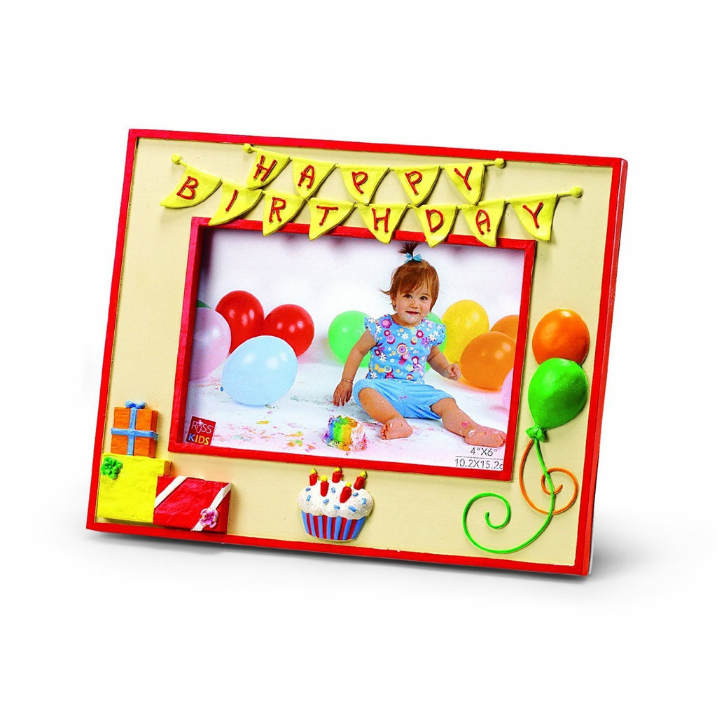 Plushible Happy Birthday Picture Frame by Russ Berrie