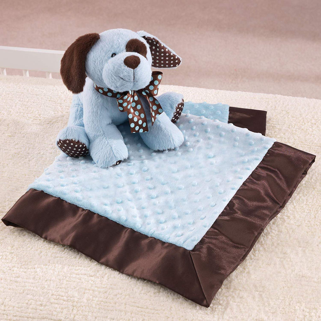 "Plushible Plush ""Blinky"" the 10.5in Blue Plush Puppy and Blanket Set by KidKraft"