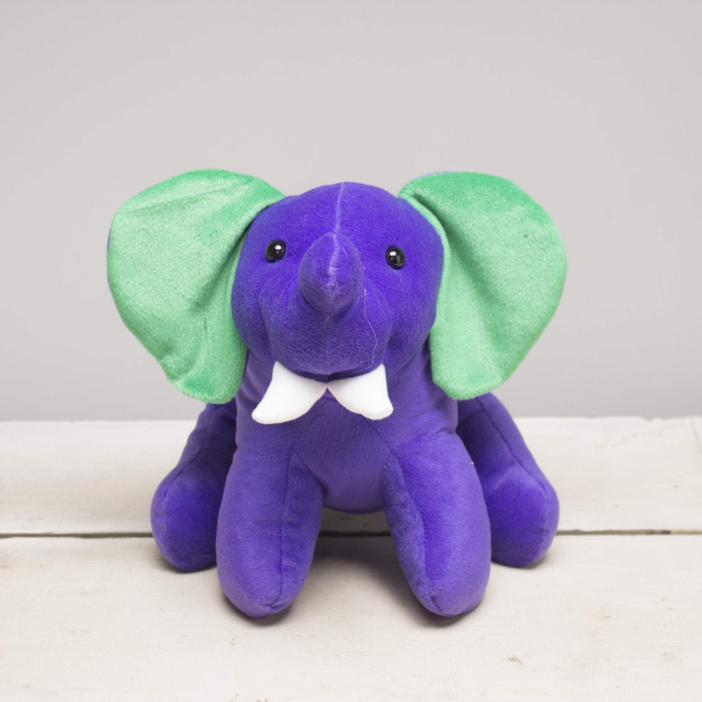 "Plushible ""Tusky"" the 10in Large Circus Elephant by The Beverly Hills Teddy Bear Company"""