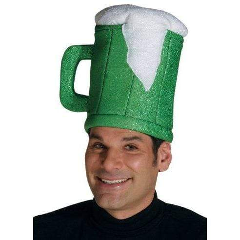 Rasta Imposta ADULT_COSTUME Rasta Imposta Green Beer Mug Hat - Funny Hats for St. Patrick's Day - One Size Fits Most