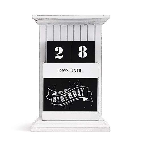 Redrock Traditions HOME Redrock Traditions Countdown to Everything Chalkboard Look 9.5 x 6.5 Distressed Wooden Table Top Calendar
