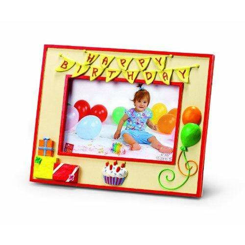 "Russ Berrie BABY_PRODUCT Russ Berrie Happy Birthday 4"" x 6"" Photo Frame (Discontinued by Manufacturer)"