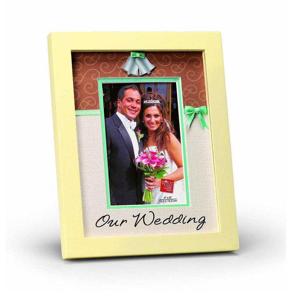 Russ Home Russ Our Wedding Day Wood Frame, 4 by 6-Inch