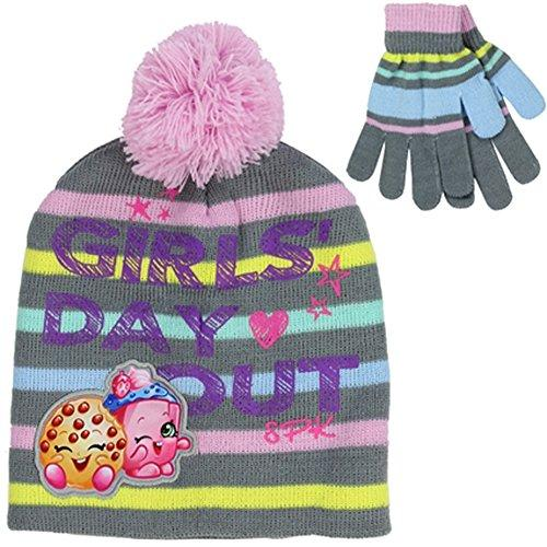 Shopkin HAT Shopkin Girls Day Out Beanie and Glove Set Grey