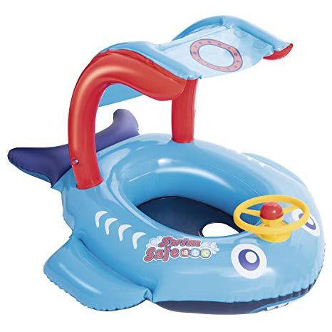 SWIM SAFE TOYS_AND_GAMES Blue SWIM SAFE Playful Shark/Fish Baby Boat