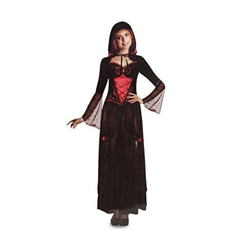 Unknown ADULT_COSTUME HOME SORCERESS DRESS WITH HOOD WOMEN'S SIZE MEDIUM BLACK