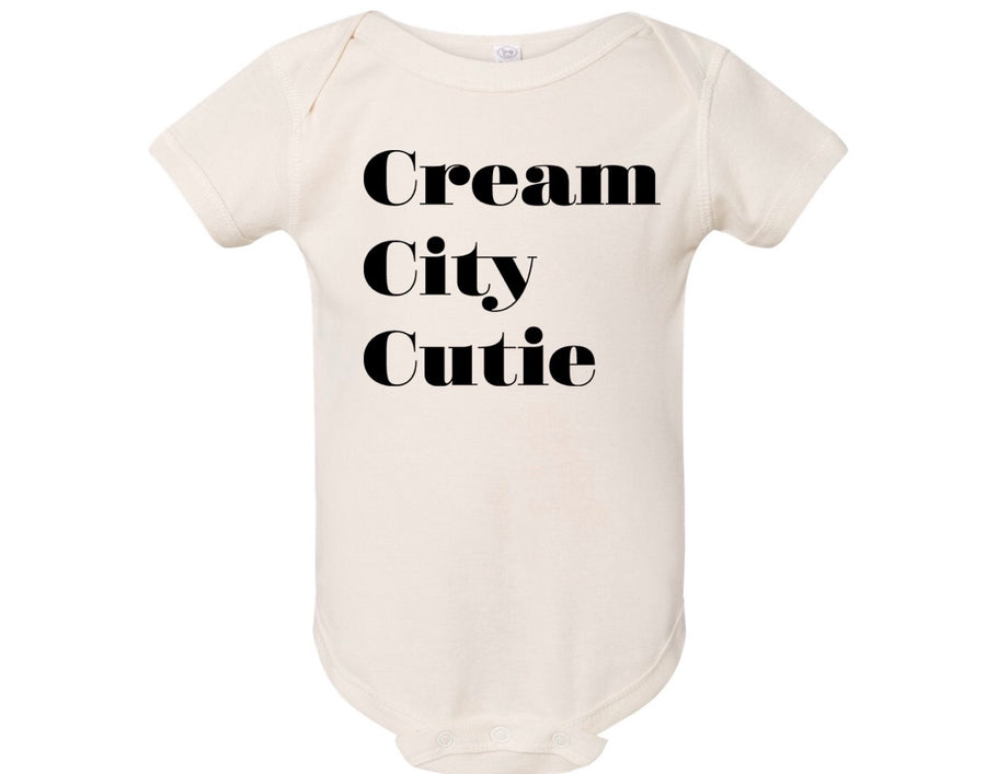 Cream City Cutie - Stacked Onesie ™️