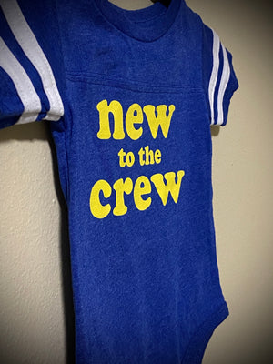 Retro New to the Crew onesie