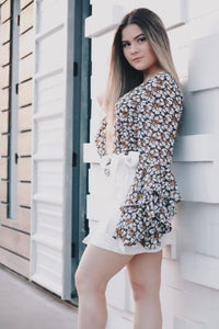 Floral Bell Blouse