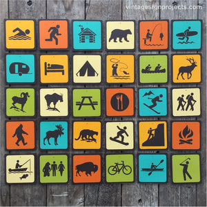 Handmade Vintage National Park Icon Signs Collection