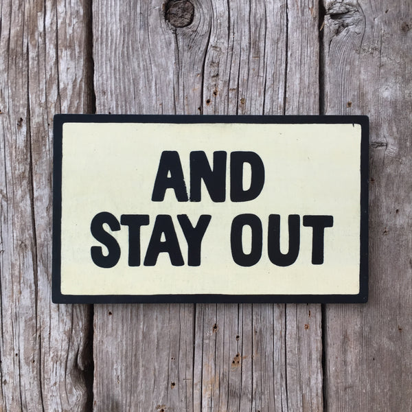 Handmade Futurama And Stay Out Door Sign