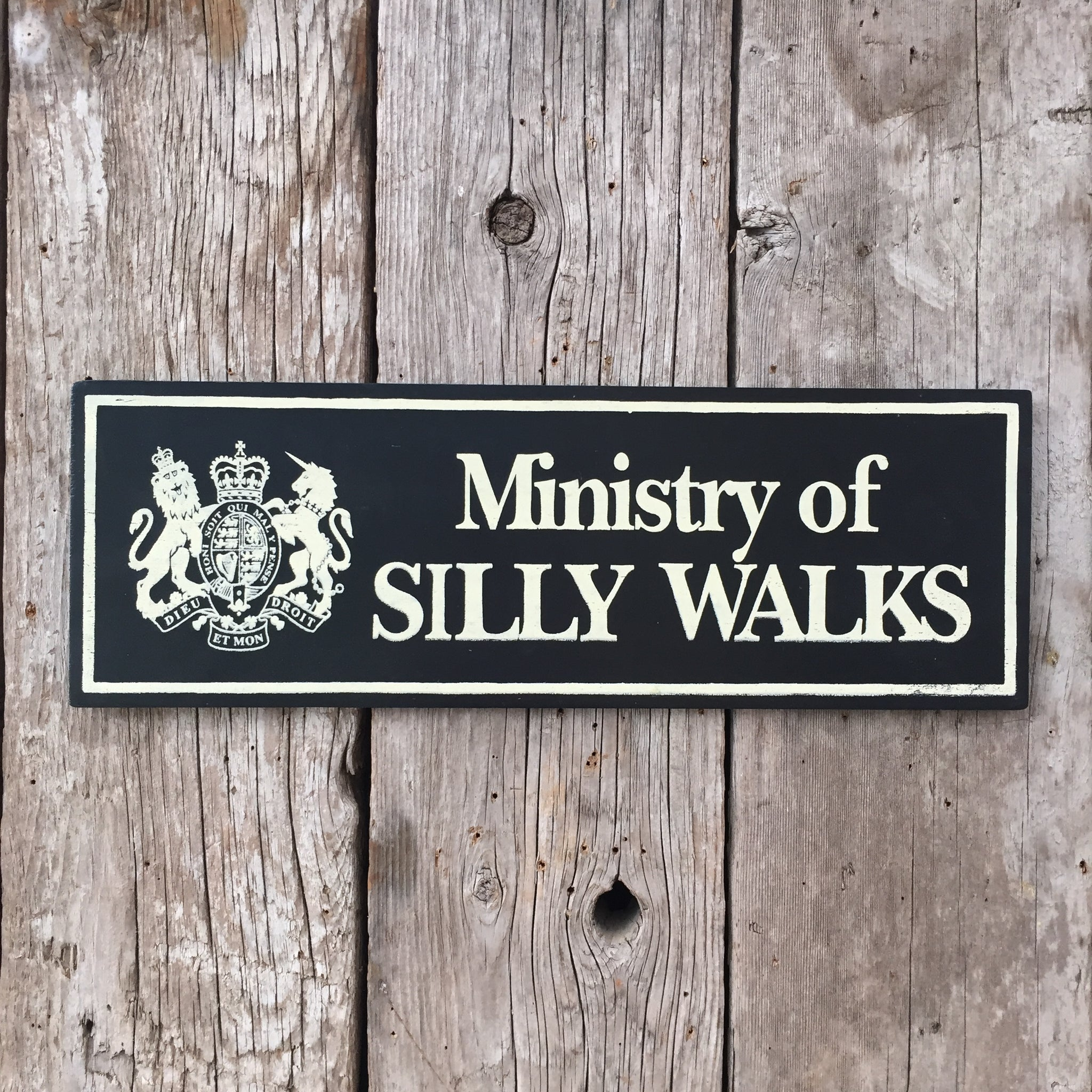 Handmade Monty Python Ministry Of Silly Walks Sign