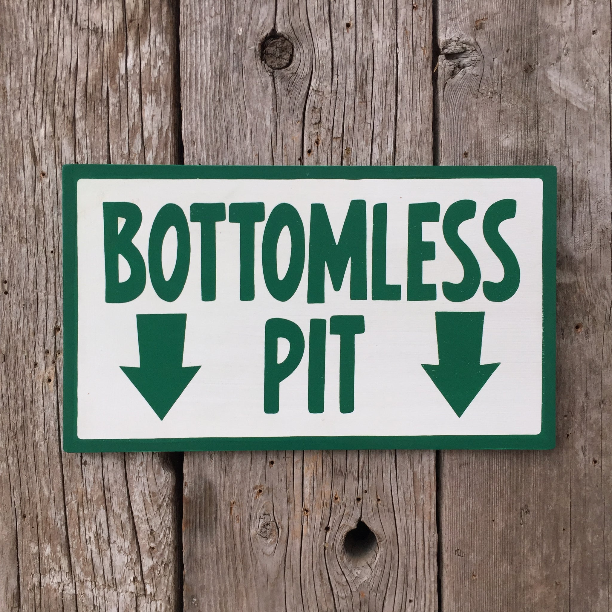 Handmade The Simpsons Bottomless Pit Arrow Sign