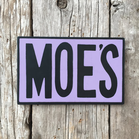 Handmade The Simpsons Moe's Tavern Sign