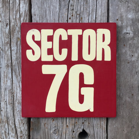 Handmade The Simpsons Sector 7G Sign