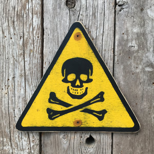 Handmade Vintage Industrial Laboratory Poison Warning Sign