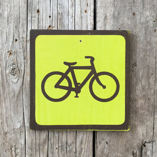 Handmade Vintage Park Bicycle Bike Outdoors Sport Icon Sign