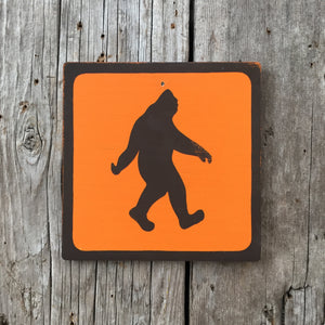 Handmade Vintage Park Bigfoot Sasquatch Outdoors Icon Sign