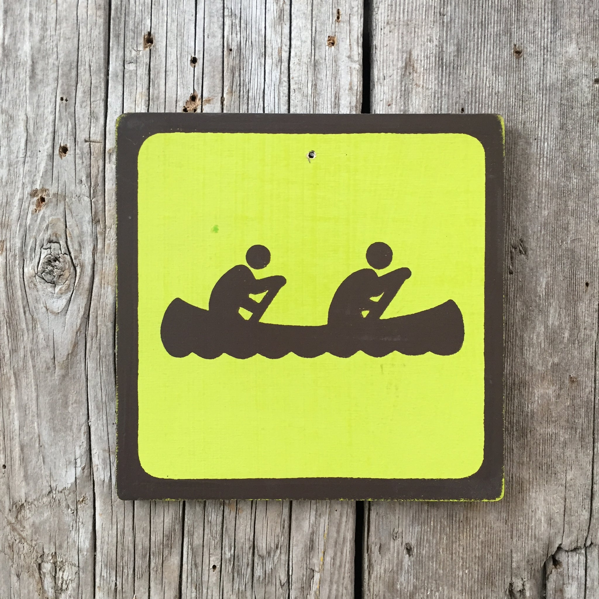 Handmade Vintage Park Canoe Water Outdoors Sport Icon Sign