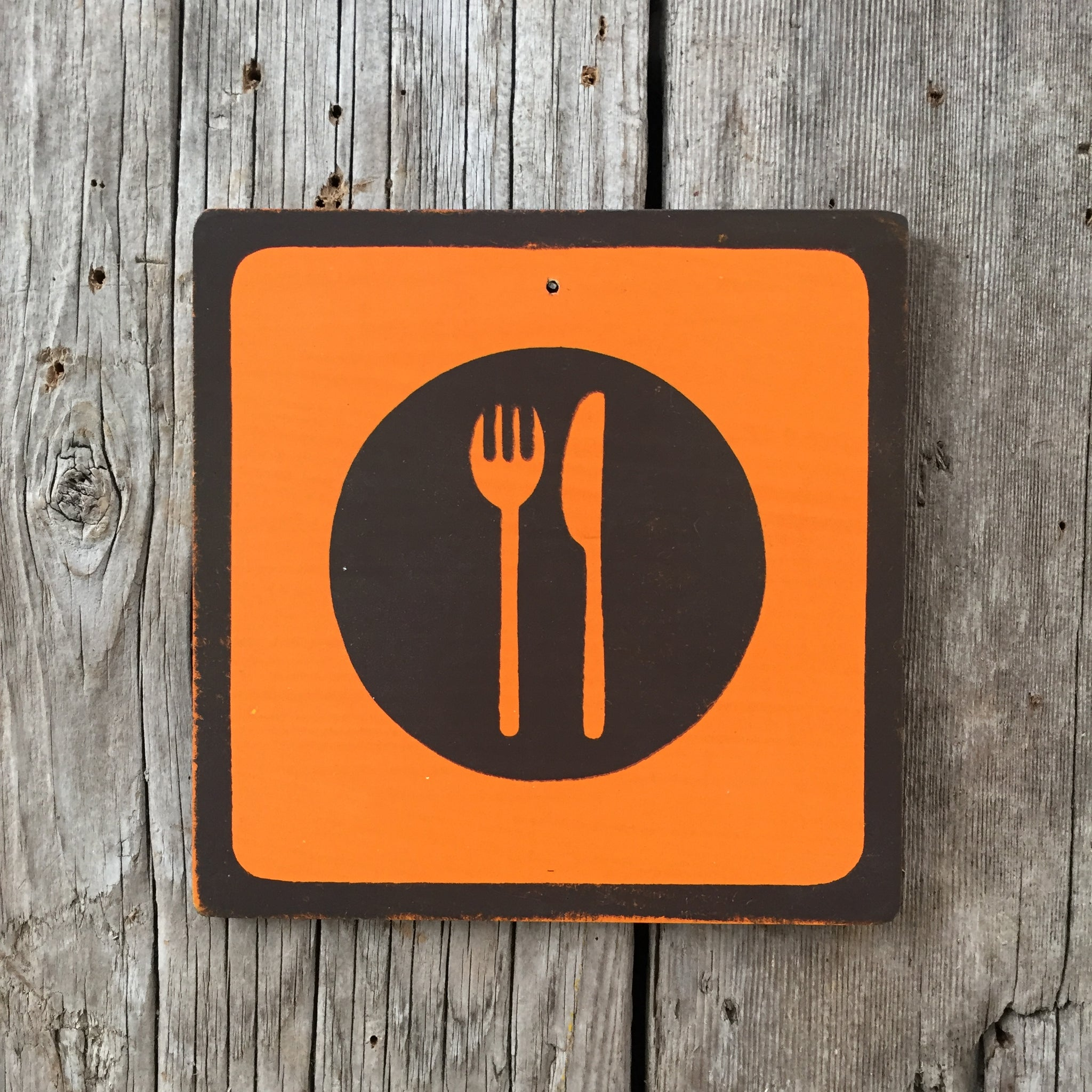 Handmade Vintage Park Diner Eat Outdoors Icon Sign