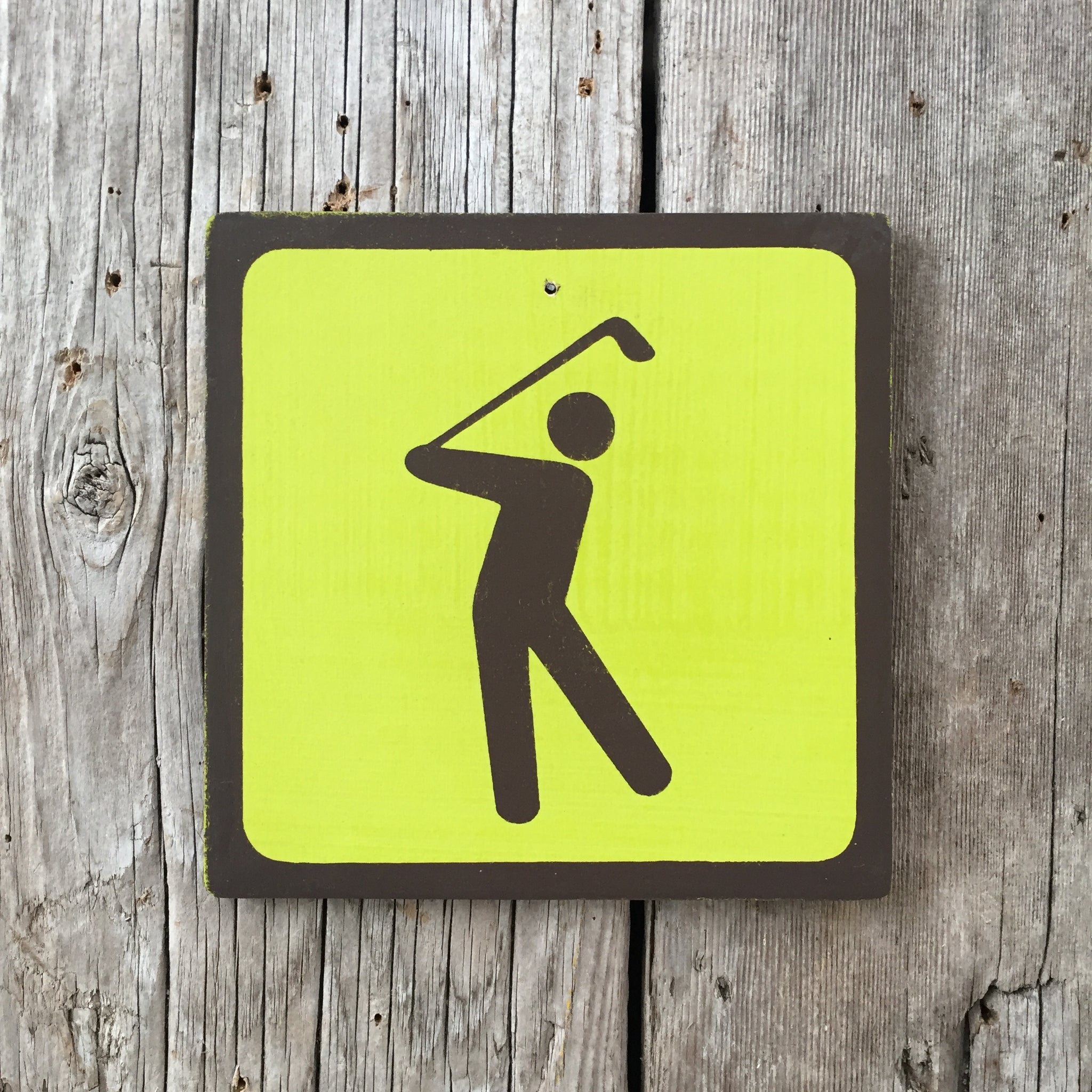 Handmade Vintage Park Golf Golfing Outdoors Sport Icon Sign