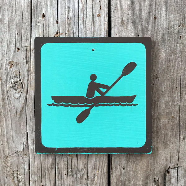Handmade Vintage Park Kayak Water Outdoors Sport Icon Sign