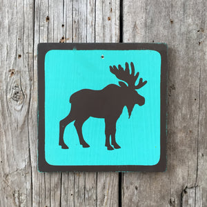 Handmade Vintage Park Moose Wildlife Animal Outdoors Icon Sign