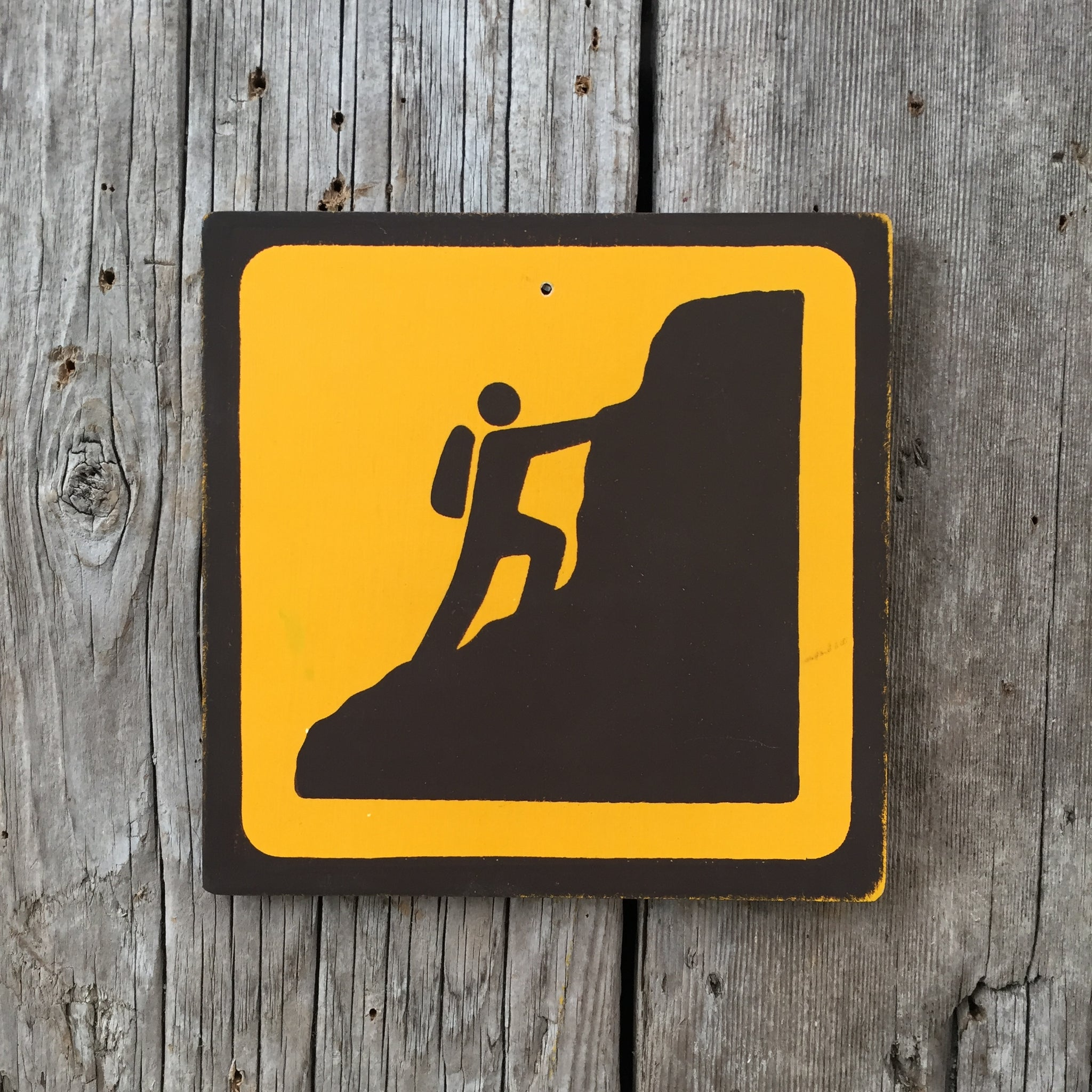 Handmade Vintage Park Mountain Climb Climber Outdoors Sport Icon Sign