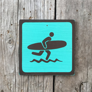 Handmade Vintage Park Surf Surfer Water Beach Outdoors Sport Icon Sign