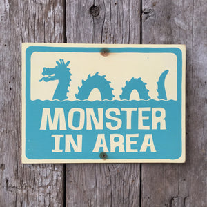 Handmade Vintage Sea Monster Ogopogo Sign