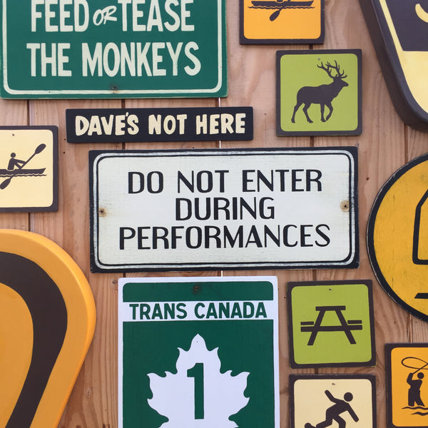Do Not Enter During Performances Sign | Handmade Vintage | Theater Sign | Music | Playhouse | Concert Hall | Opera House Sign | Theatre Sign