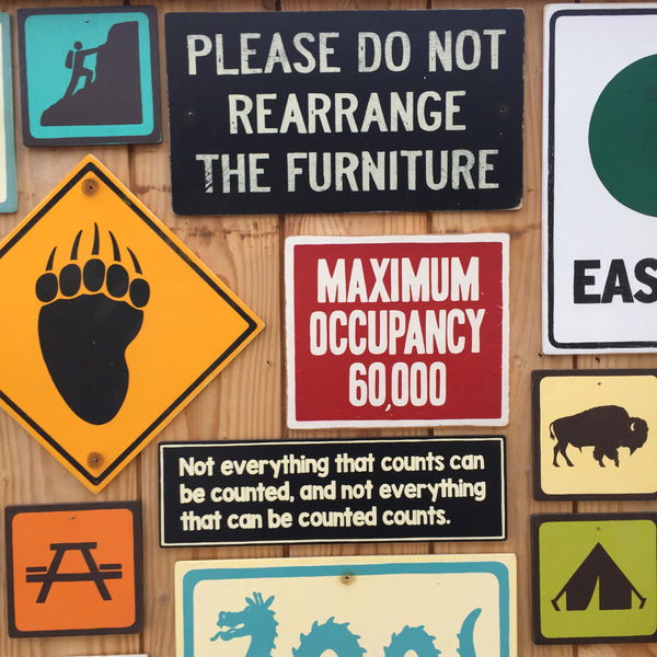 Please Do Not Rearrange The Furniture Sign | Handmade Vintage | Strange Motel Sign | Funny Sign | B&B Sign | Hotel | Quirky Sign