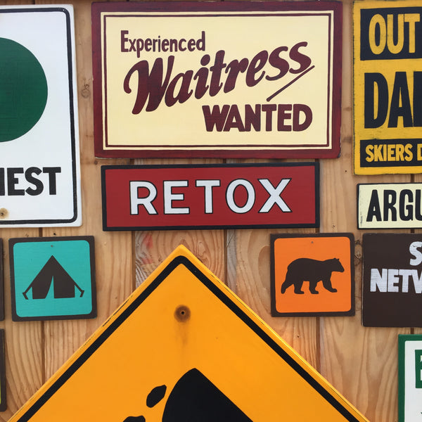 Experienced Waitress Wanted Diner Sign | Handmade Vintage | Restaurant Sign | Help Wanted | Eatery | Cafe | Bar | Signage