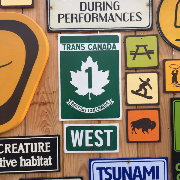 Trans Canada Highway Sign | Handmade Vintage | Car Sign | Automotive Sign | British Columbia Canada Highway Road Sign