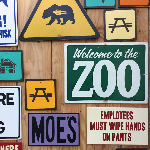 Welcome To The Zoo Sign | Handmade Vintage | Funny Office Sign | Kids Room Sign