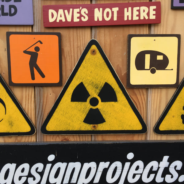 Radiation Industrial Laboratory Warning Sign | Handmade Vintage | Radioactive Danger Sign