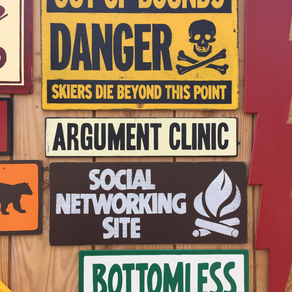 "Monty Python ""Argument Clinic"" Sign 