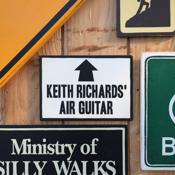 Keith Richards' Air Guitar Sign | Handmade Pop Culture | Rolling Stones | Musician Sign | Guitarist | Band | Music | Rock and Roll | Rock