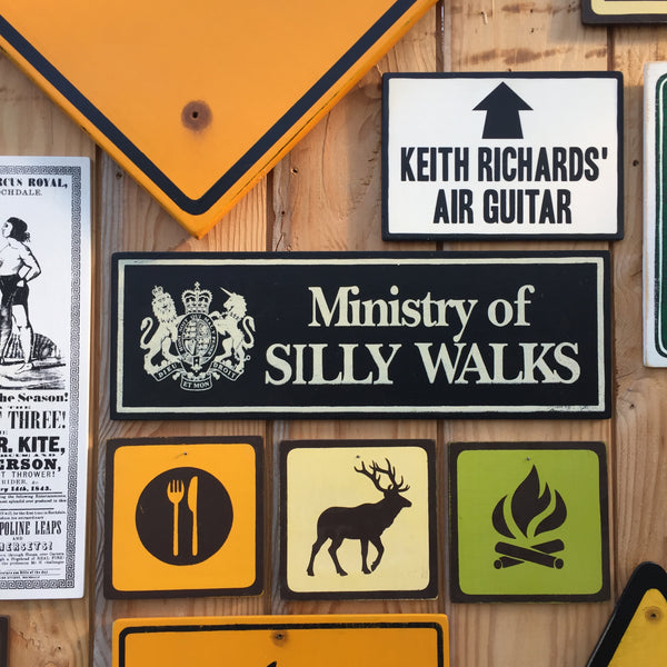 "Monty Python ""Ministry Of Silly Walks"" Sign 