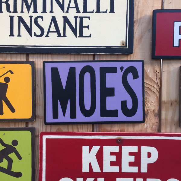"The Simpsons ""Moe's"" Tavern Sign 