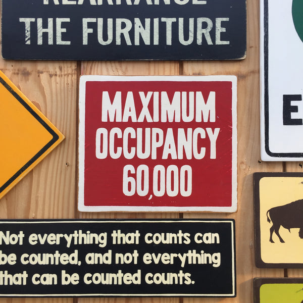 Maximum Occupancy 60000 Beehive Sign | Handmade Pop Culture | Stadium Sign | Beekeeping Sign | Honey Bees | Beekeeper Sign | Apiary