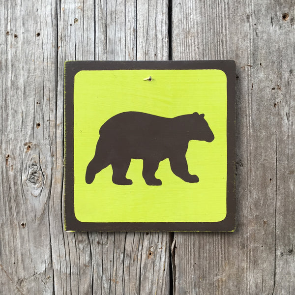 "Park Wildlife Icon Sign ""Bear"" 