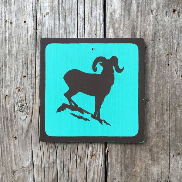 "Park Wildlife Icon Sign ""Bighorn Sheep"" 