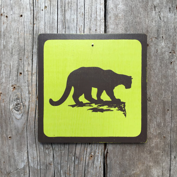 "Park Wildlife Icon Sign ""Cougar"" 