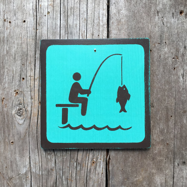 "Park Icon Sign ""Dock Fishing"" 