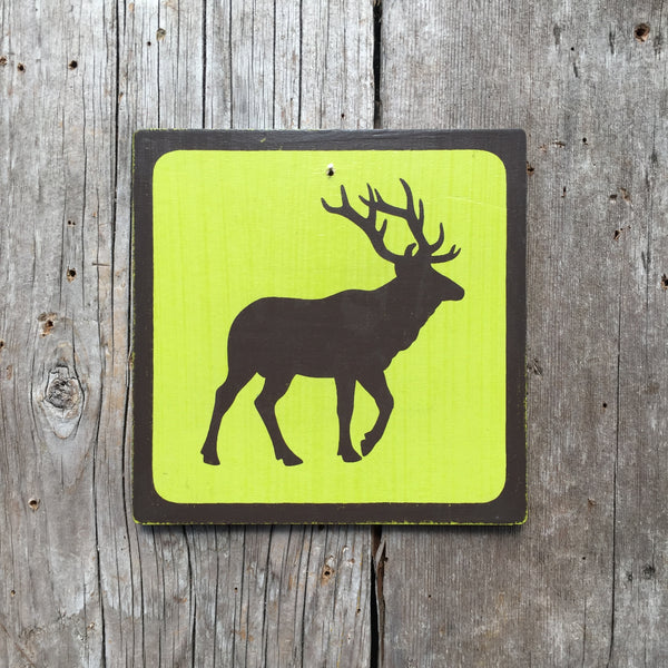 "Park Wildlife Icon Sign ""Elk"" 