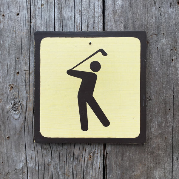 "Park Icon Sign ""Golf"" 