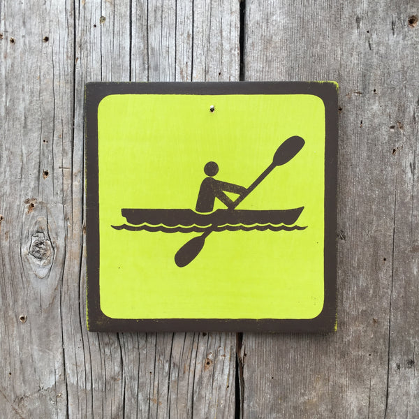 "Park Icon Sign ""Kayak"" 